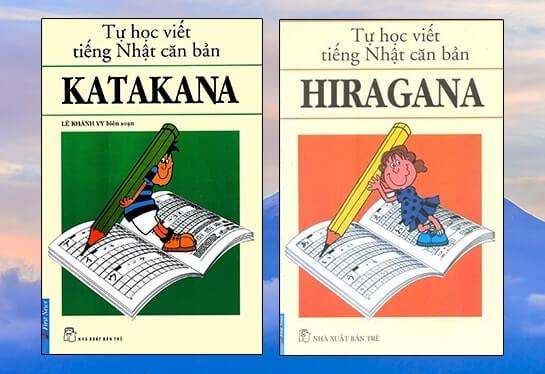 Sách học bảng chữ Hiragana và Katakana.