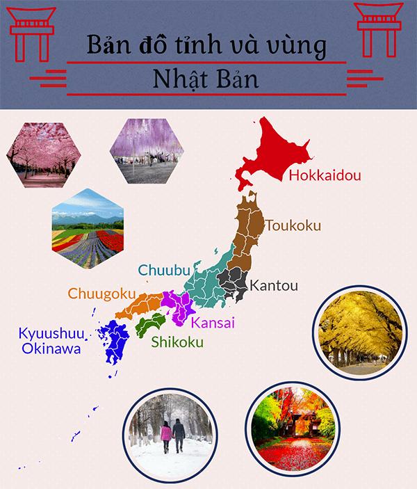 đặc trưng các vùng ở Nhật Bản
