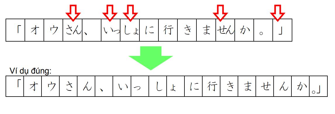 Cách viết văn trên giấy Genko Yoshi